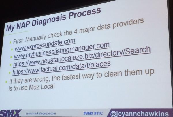 Joy Hawkins' NAP diagnosis process