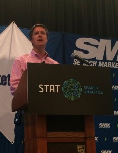 Adam Audette speaking at SMX East