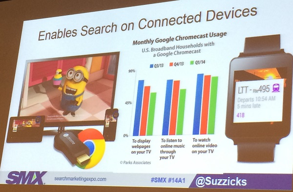 search on connected devices slide