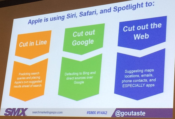 Apple cuts out Google SMX East