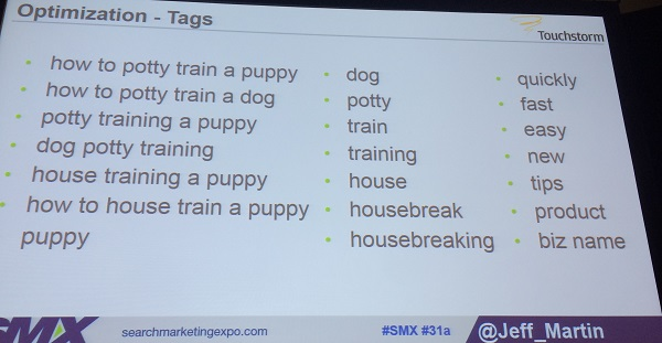 examples of youtube tags