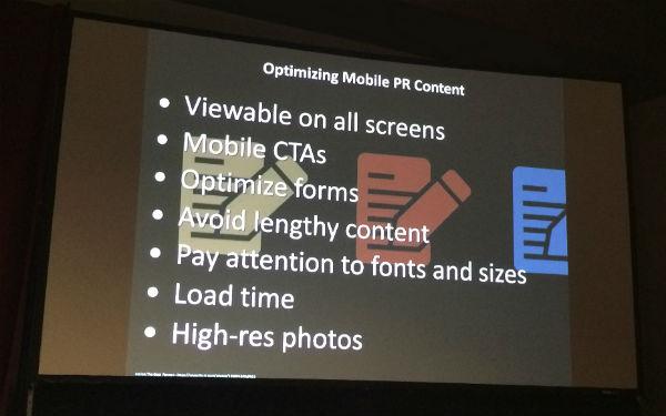 Optimizing Mobile PR Content