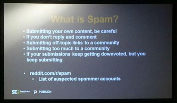 Reddit Spam slide
