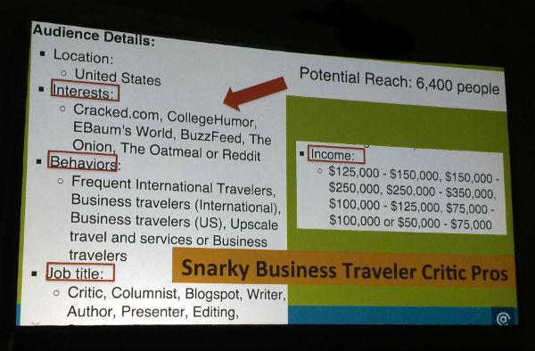 Snarky business traveler critic