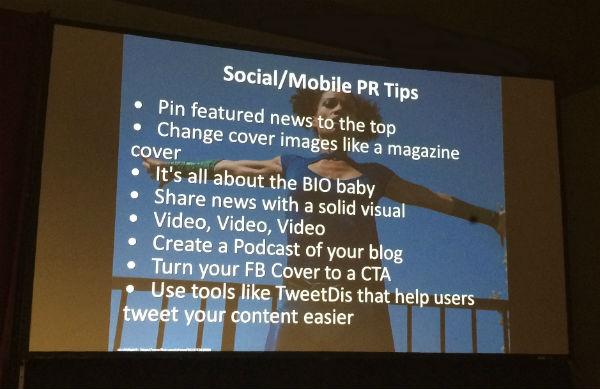Social and Mobile PR tips