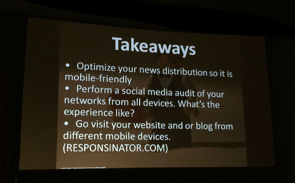 Takeaways for Mobile and Social PR tips