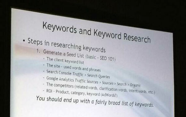 The steps of keyword research