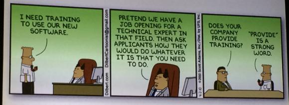 Cartoon strip on workplace