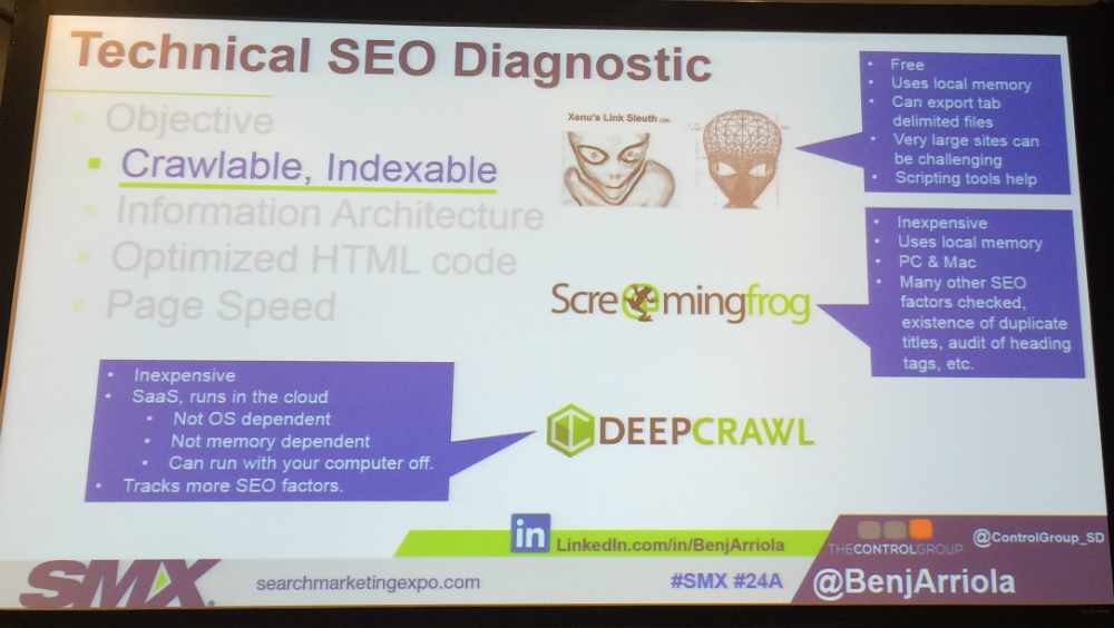 SEO tools slide