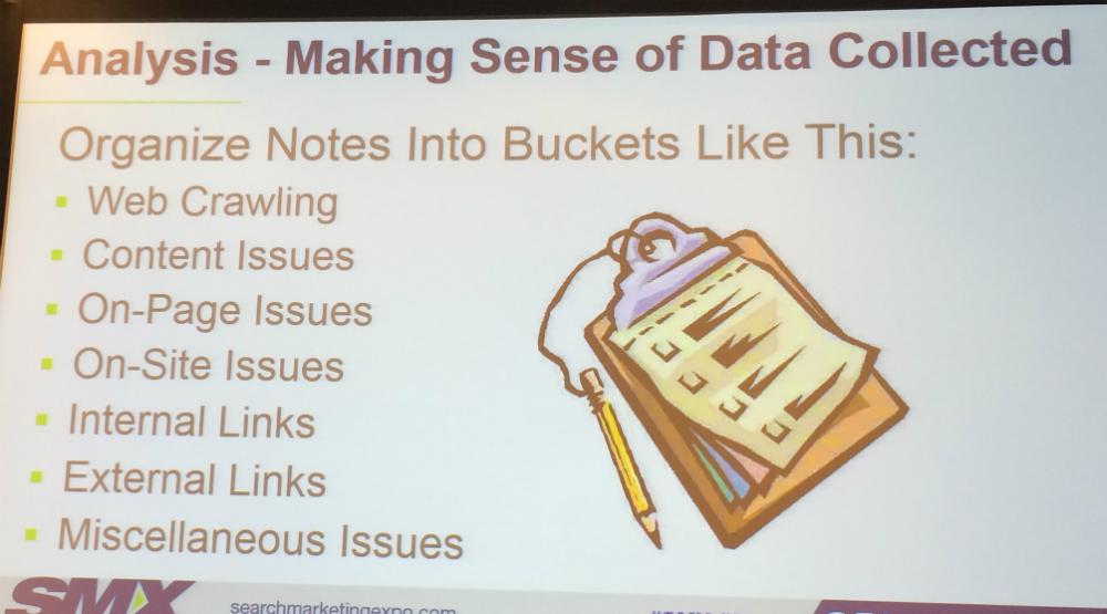 Organize notes slide