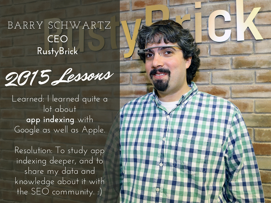 Barry Schwartz 2015 lessons