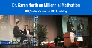 Dr. Karen North speaking at BIA/Kelsey's NEXT conference