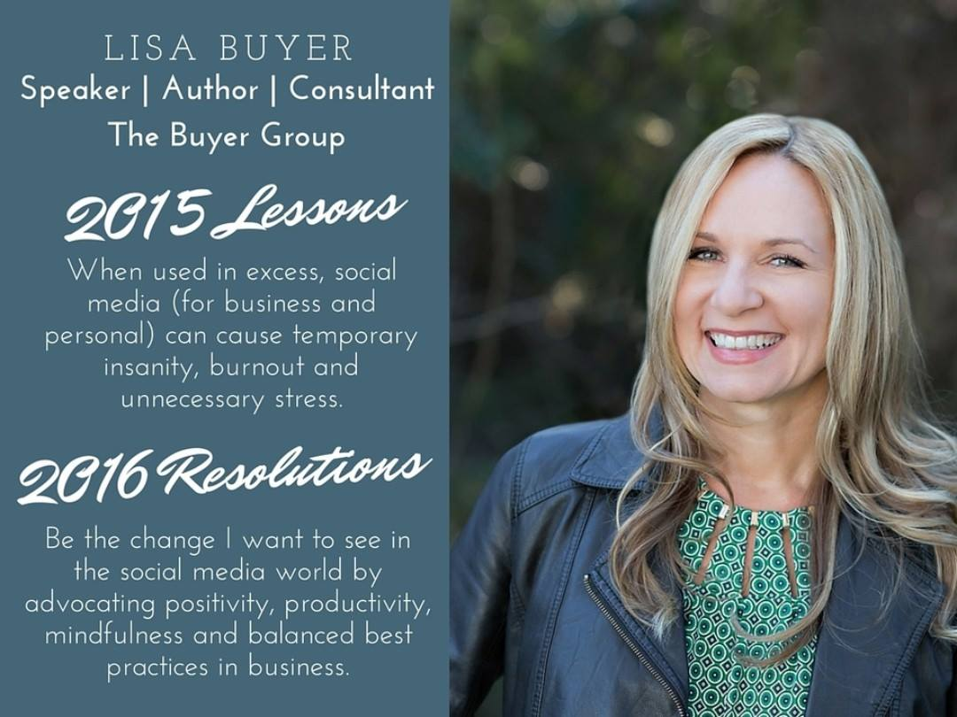 Lisa Buyer 2015 lessons