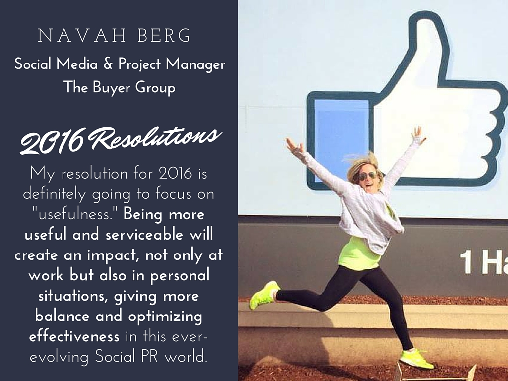 Navah Berg 2016 resolutions