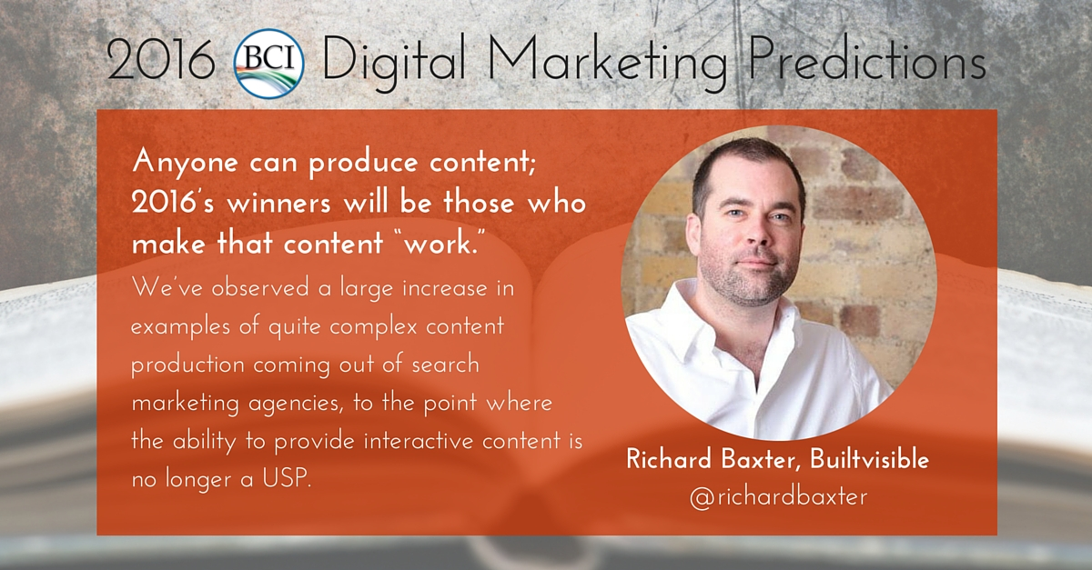 richard baxter predicts content that works 2016