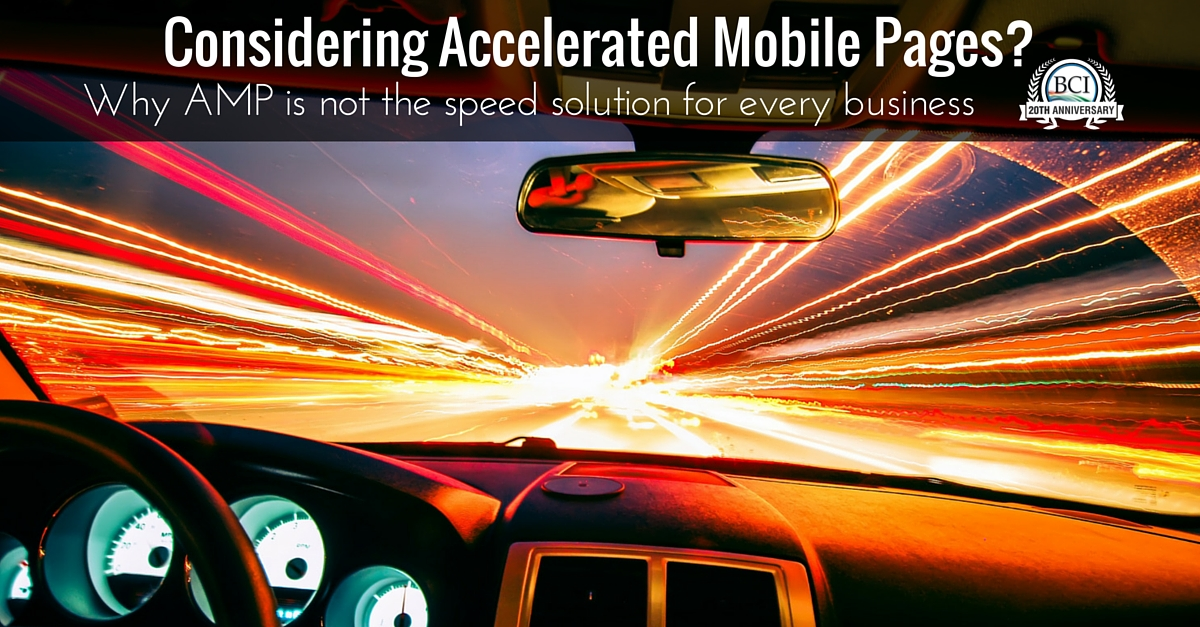 considering accelerated mobile pages?
