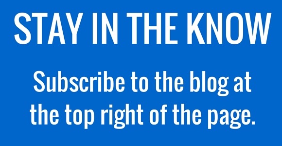 STAY IN THE KNOWSubscribe to the blog at the top right of the page.
