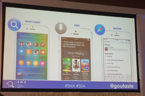 Spotlight, Siri and Safari #SMX