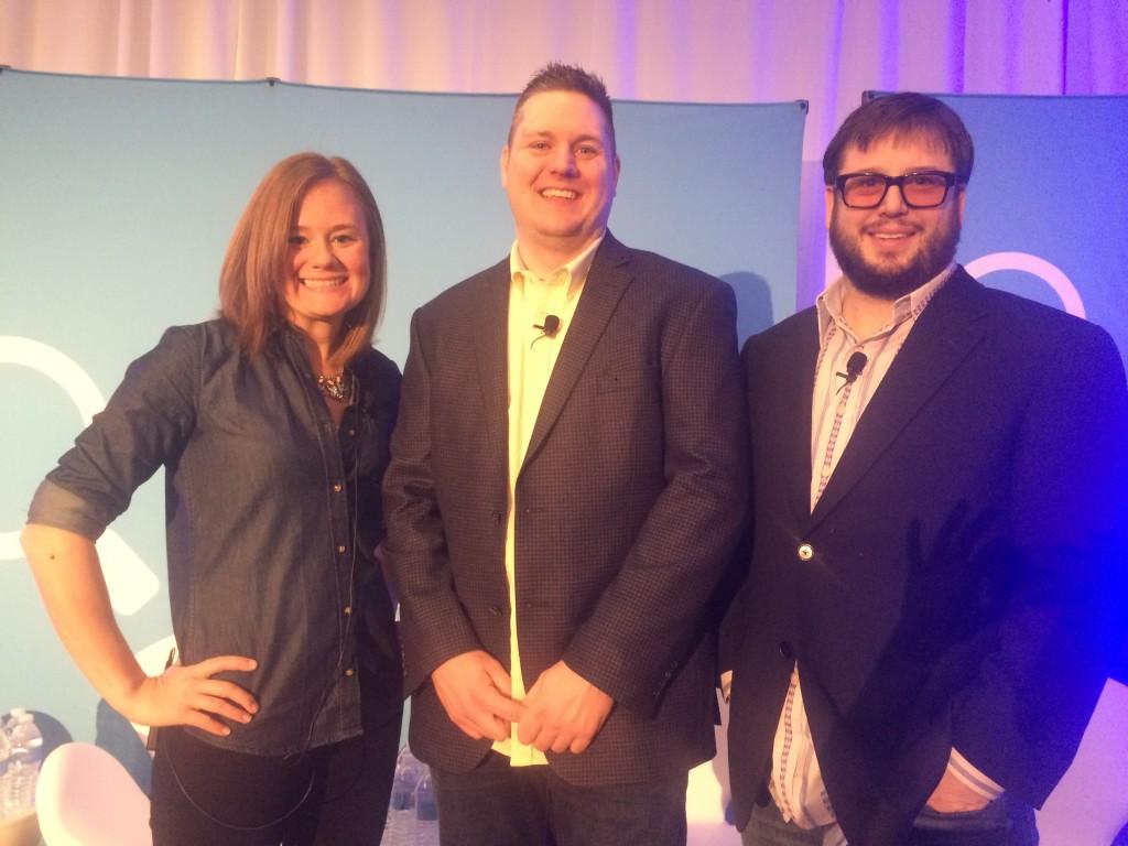 From left: Erin Everhart, Ryan Jones and Derrick Wheeler