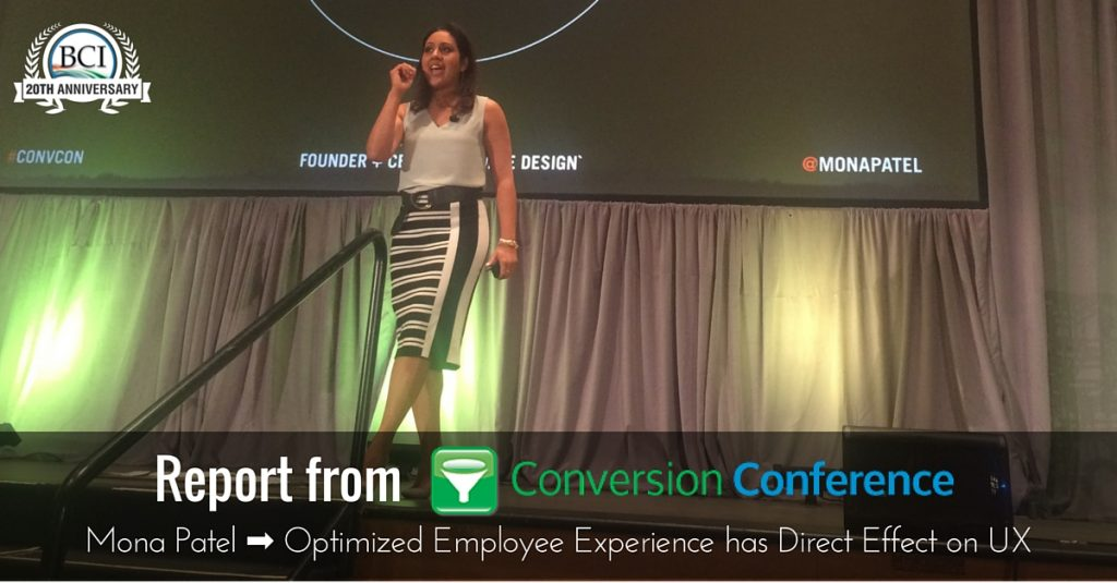 Mona Patel at Conversion Conference 2016