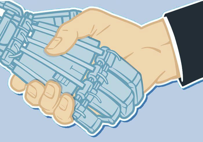 human-hand-and-robot