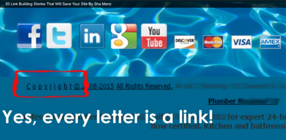 linking from every letter