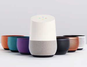 Google Home bases in seven colors.