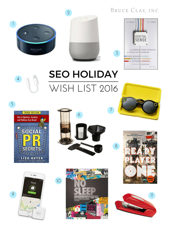 seo holiday wish list