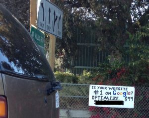 A Handmade Sign Selling Search Engine Optimization