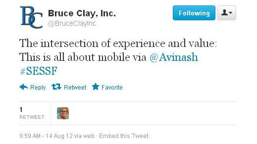 Bruce Clay Inc on Twitter Tweet
