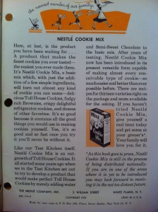 Page of Nestle Cookbook