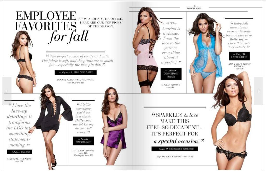 Employees Pick Their Favorite Lingerie Item for a Catalogue