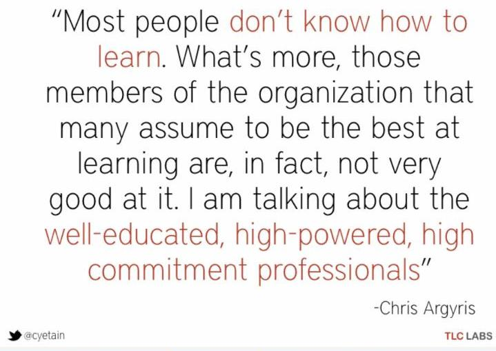Chris Argyris Quote
