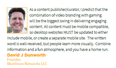 David Dunworth Prediction for Content Marketing in 2013