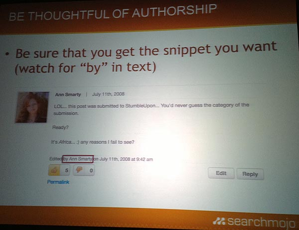 Authorship given to Ann Smarty for editing a document