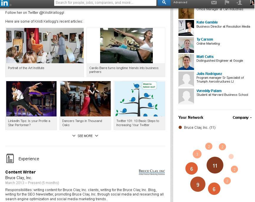 screenshot of li rich media