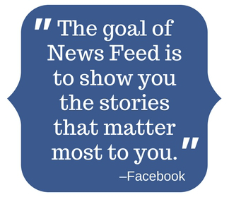 The goal of News Feed quoted