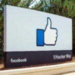 Facebook headquarters sign on Hacker Way