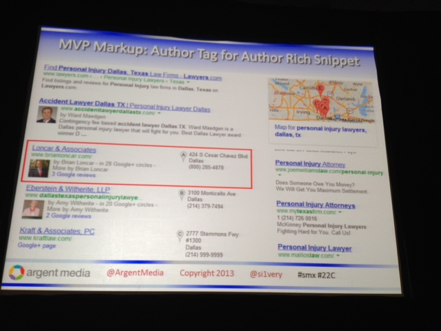Authorship in SERPs