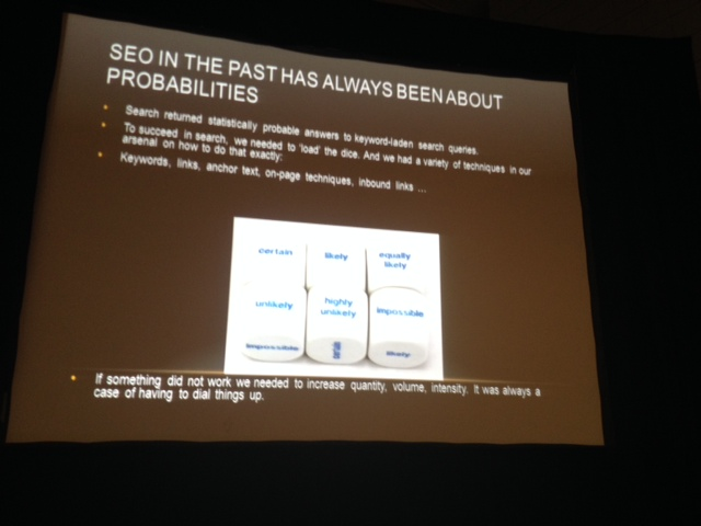 SEO used to be about probabilities