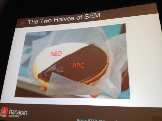 SMX Prioritization session 21B - SEO PPC Black and White Cookie