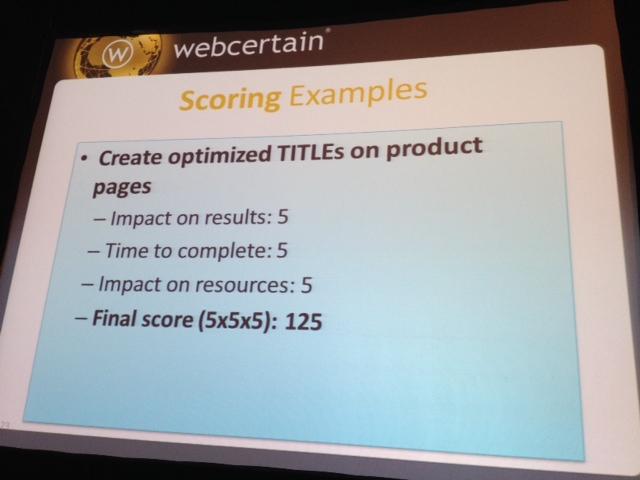 SMX Prioritization session 21B - prioritzation scoring examples