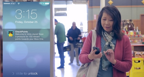 Example of an InMarket CheckPoints app iBeacon experience