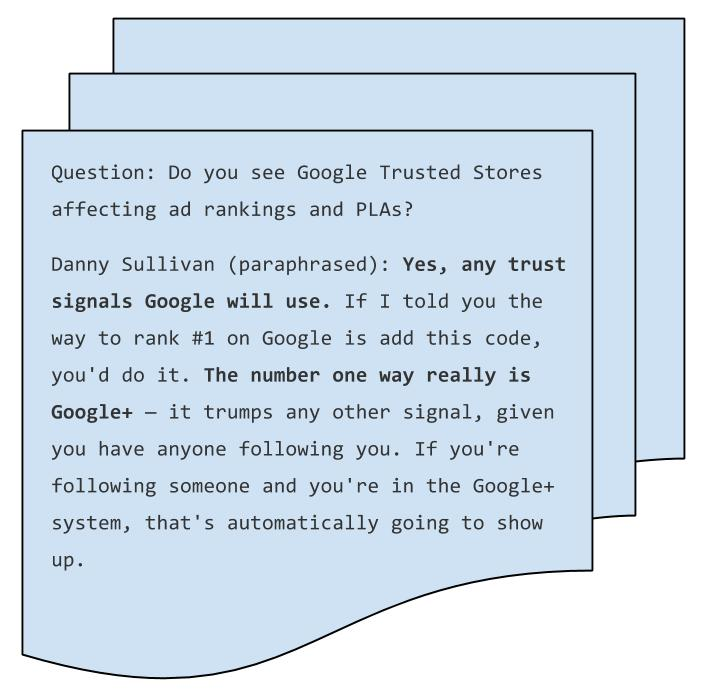 danny sullivan on google trusted stores