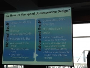 SMS slide on speeding up responsive design