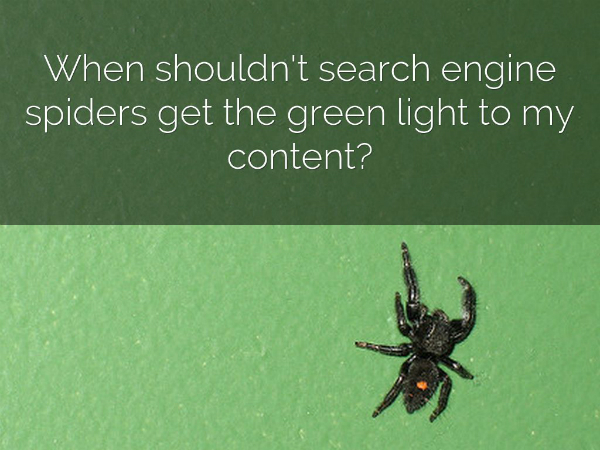 when to block search engine spiders
