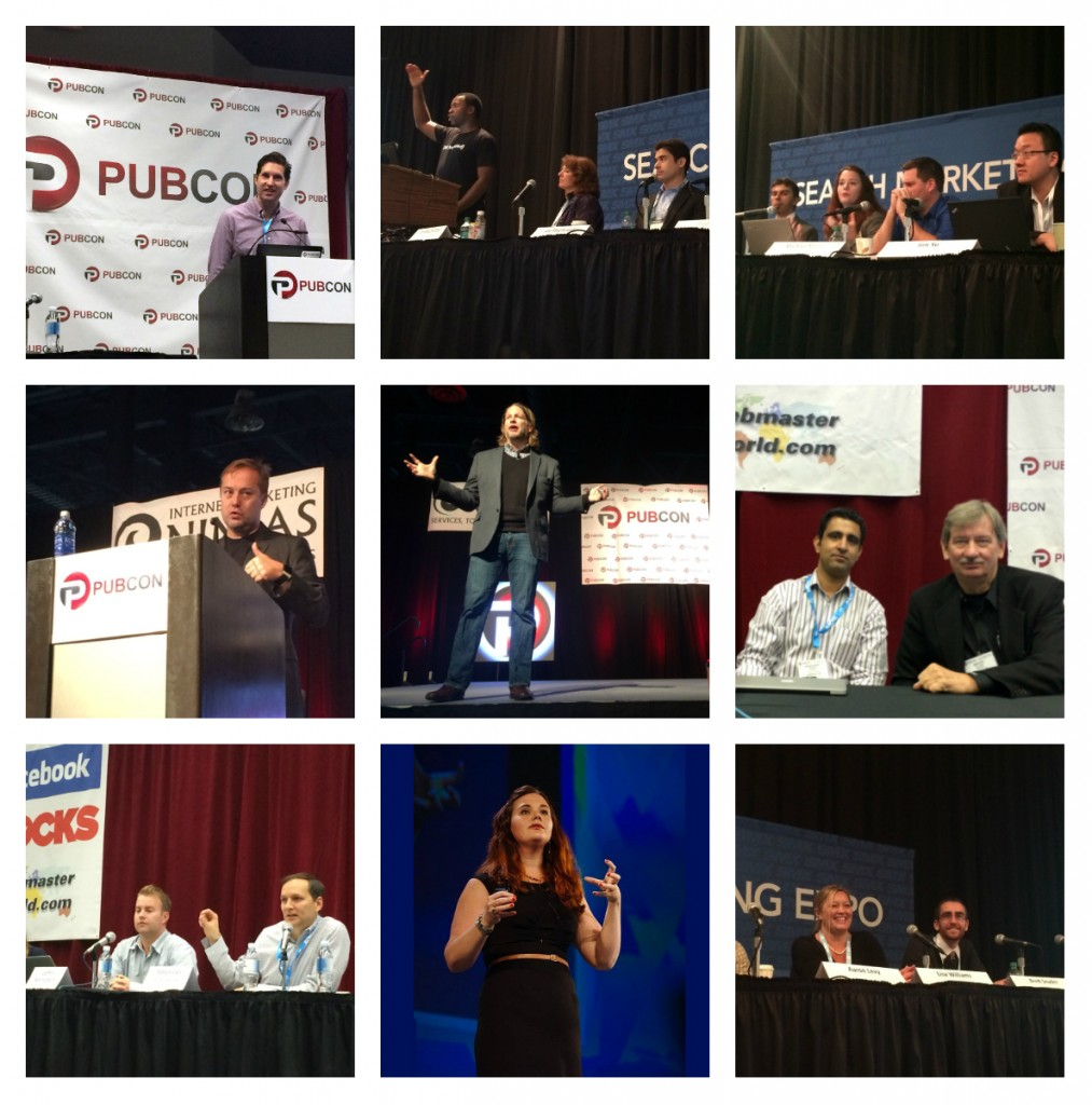 Collage of pictures from SMX East 2014 and Pubcon 2014