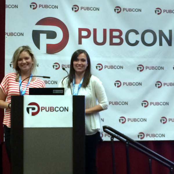 Kendall Bird and Katy Katz at Pubcon Las Vegas 2014