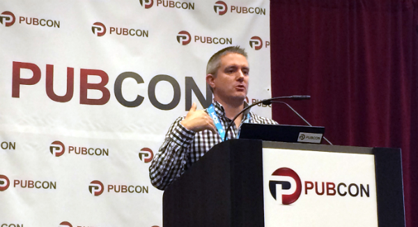 Rob Woods at Pubcon Las Vegas 2014
