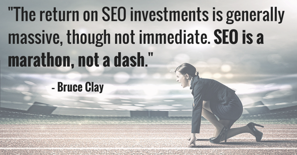SEO is a competitive space. Bruce Clay (2)